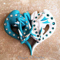 Heart Dragons by DragonsAndBeasties