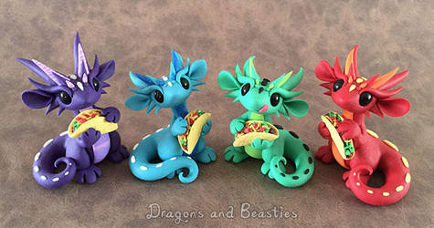 Taco Dragons by DragonsAndBeasties