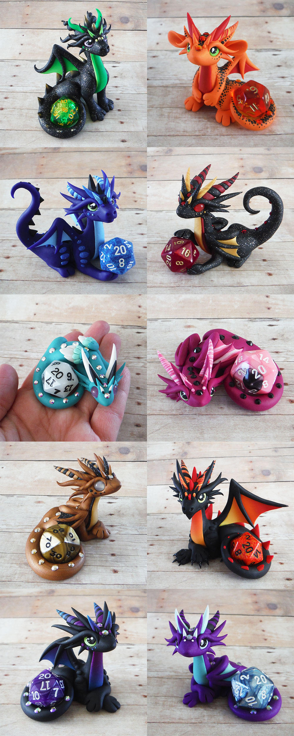 Dice Dragon Sale March 27th by DragonsAndBeasties