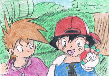 Ash Und Gary By Pikachi26-d4zddqh by Mikuruchen-Baby