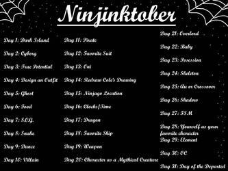 Ninjinktober by Nightlovesbirds