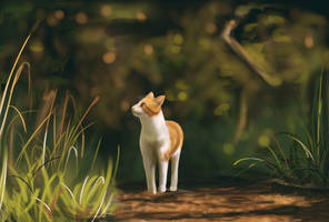 Kittycat in the forest by Chocolate-Horse