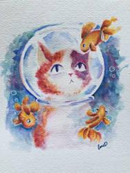 Fishy Kitty by SighBugs