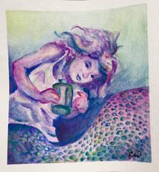 Mermaid's secret bottle by SighBugs