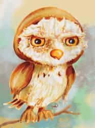 Grumpy Owl by SighBugs