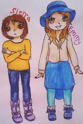 Sierra and Emmy by Bluesheepy