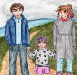 Adrian, Emmy and Joni by Bluesheepy