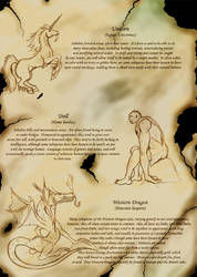 Page from an Ancient Bestiary by Mewtwofan