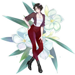 Cinder in casual clothes by Sunnypoppy