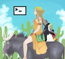 Ubuntu Linux by Gegege-no