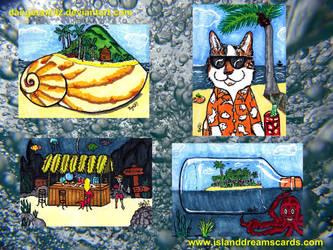 Island Dreams Sketch Cards by Dangerskillz