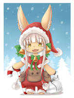 Made in Abyss Christmas : Santa Nanachi by kiieatspocky
