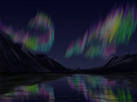Northern light speed paint by thuvia