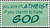 Atheist Stamp by Kiza-San