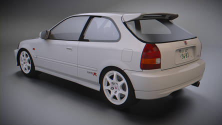 Honda Civic Type-R EK9 (White) by BFG-9KRC