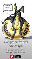 100k congrats by Bighorse by FatAssClub