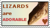 Adorable Lizards Stamp by MadKatter