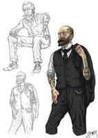 Tattoed gentlemen by MikkelSommer