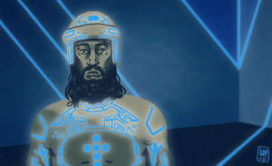 Jesus in Tron by MikkelSommer