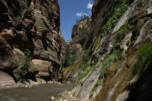 Hiking into the Narrows, Zion National Park by RichardEly
