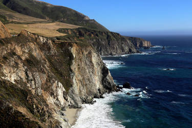 Cliffs South of Bixby Creek, Big Sur Coast by RichardEly