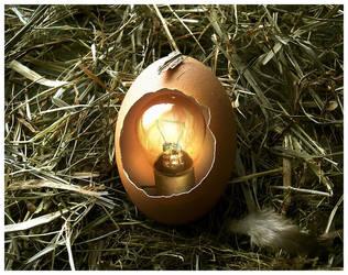 Archimedes' Egg by Malgorzata-Skibinska