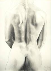 Female-Back-Sketch by the-hurukai