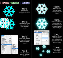 Glowing Photoshop Technique by Domafox