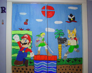 Super Smash Mural by Domafox