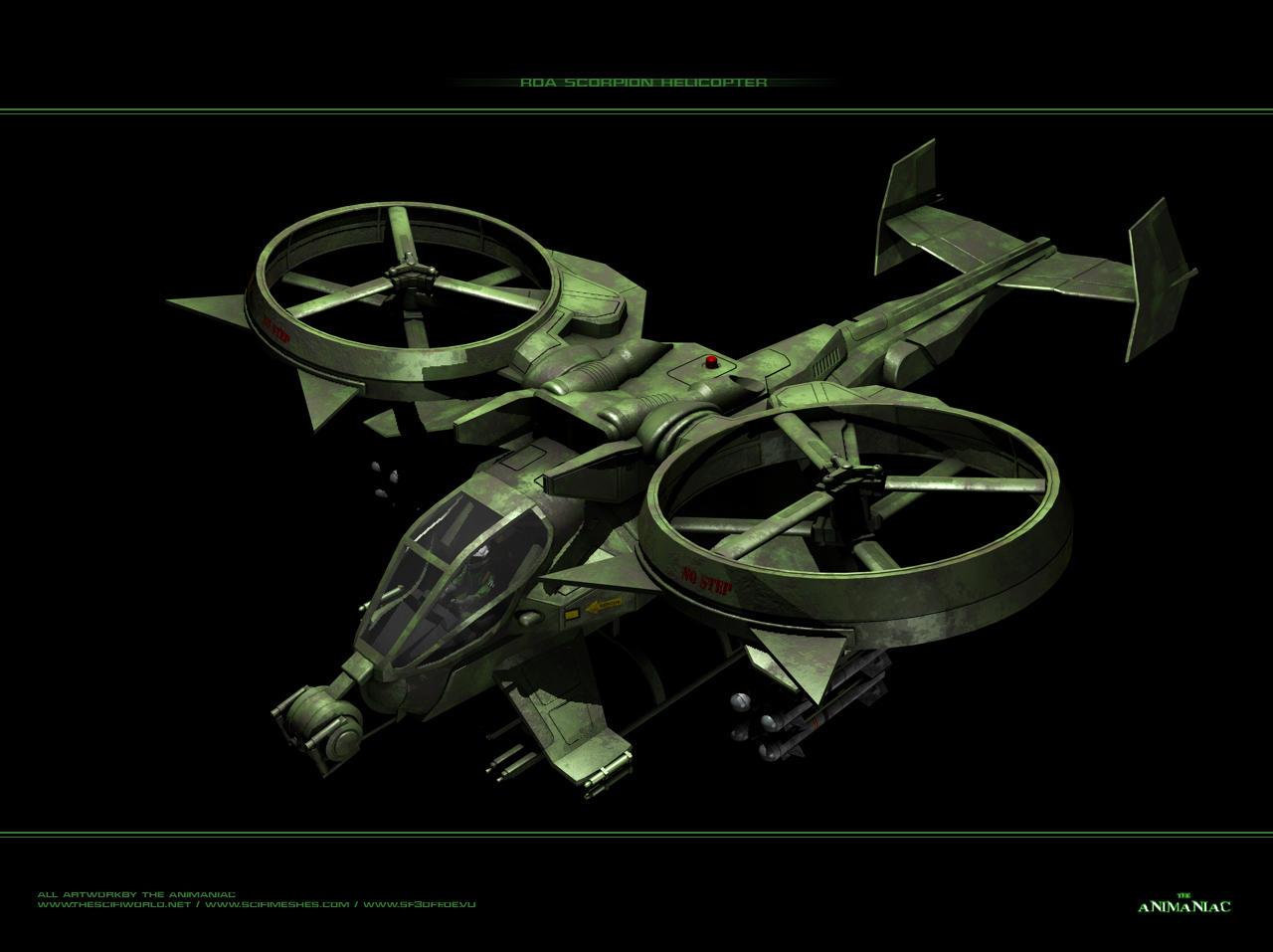 Avatar - RDA Scorpion Helicopt by Animaniacarts