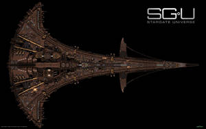 SGU Destiny and Seed Ship 2 by Animaniacarts