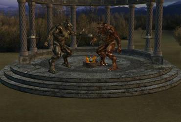 Demon battle by Tcosma