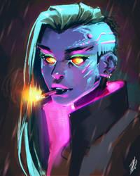 Cyberpunk by Seandraws