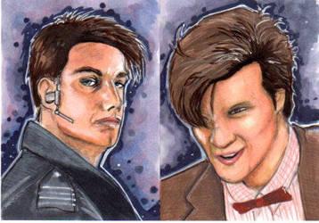 Doctor Who sketch cards by jdurden44