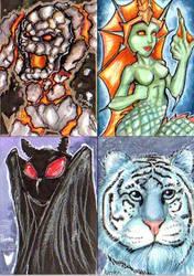 Cryptids sketch cards by jdurden44