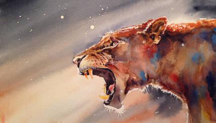 Jaguar Water Colour by fourquods