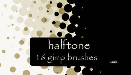 GIMP Halftone Brushes by Graphicclouds