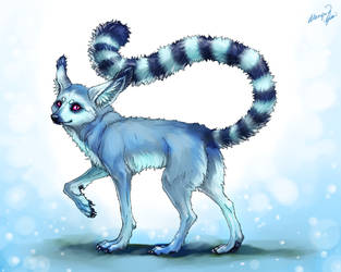 Demon Fox-lemur commission by yuumei