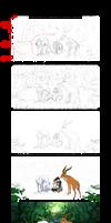 Princess Mononoke Process by yuumei