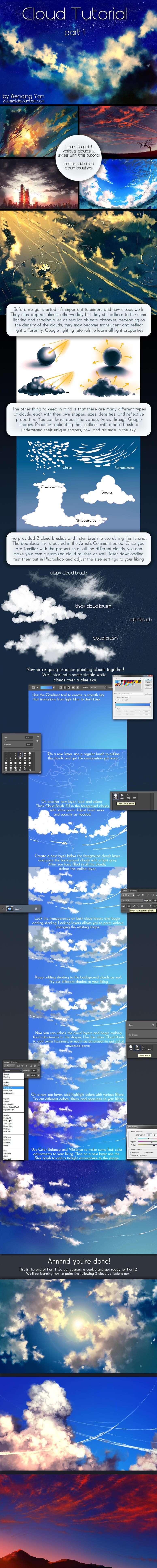 Cloud Tutorial Part 1 by yuumei