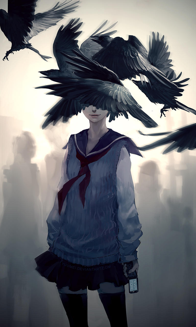 The Raven by yuumei