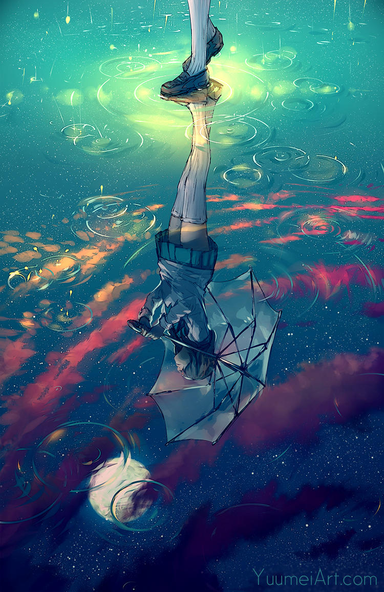 The Sky Beneath My Feet by yuumei