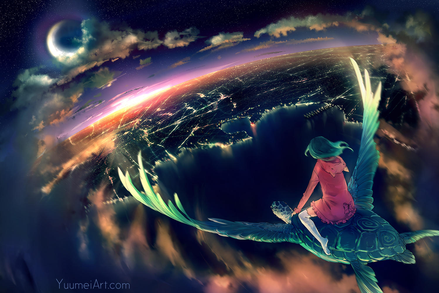 Dreams Of Flight (speedpaint tutorial linked) by yuumei