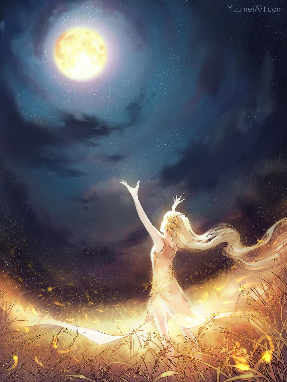 Moon Catcher by yuumei