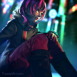 Neon Night by yuumei