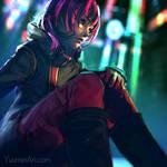 Neon Night by yuumei