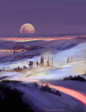 City of Fog by yuumei