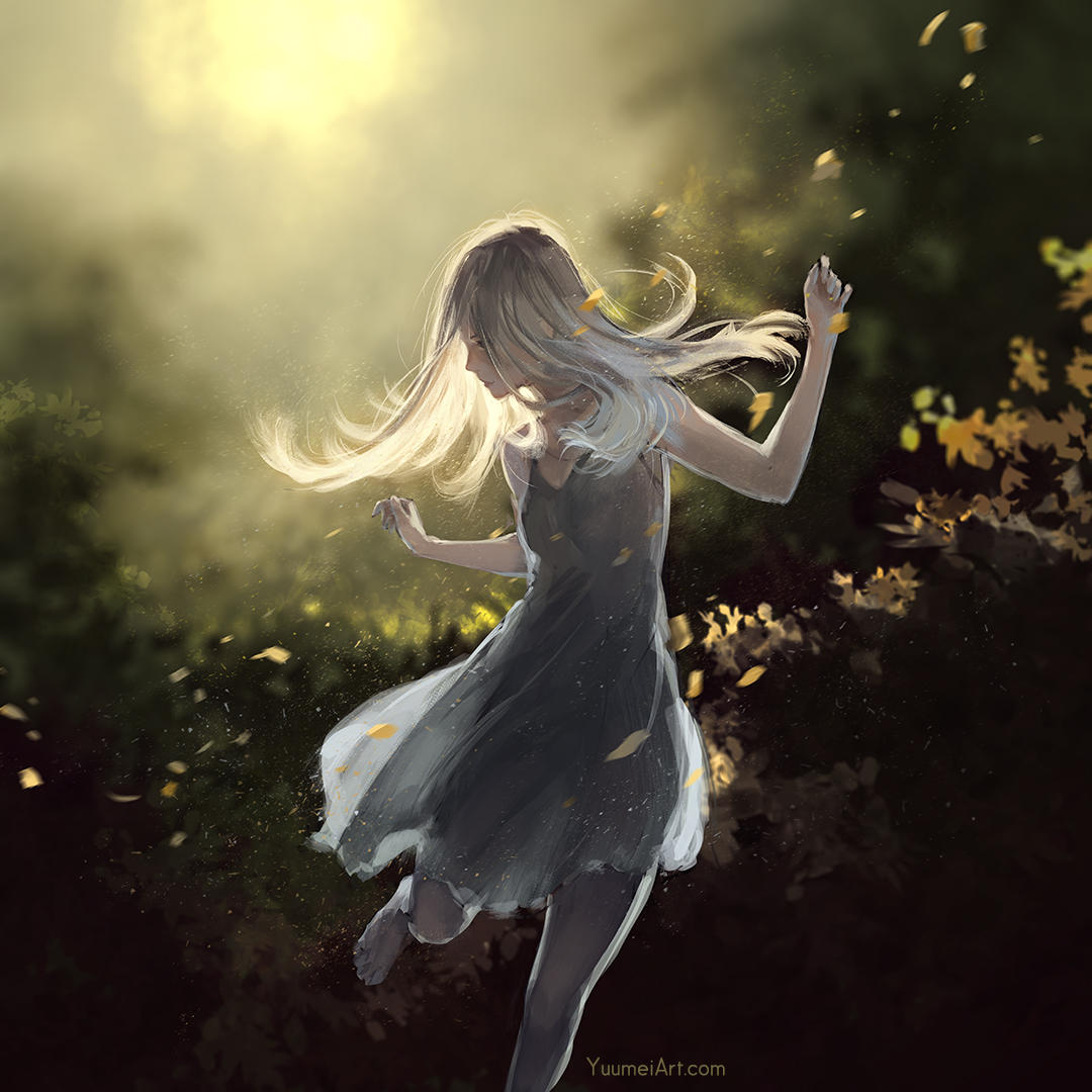 Dance with the Wind by yuumei