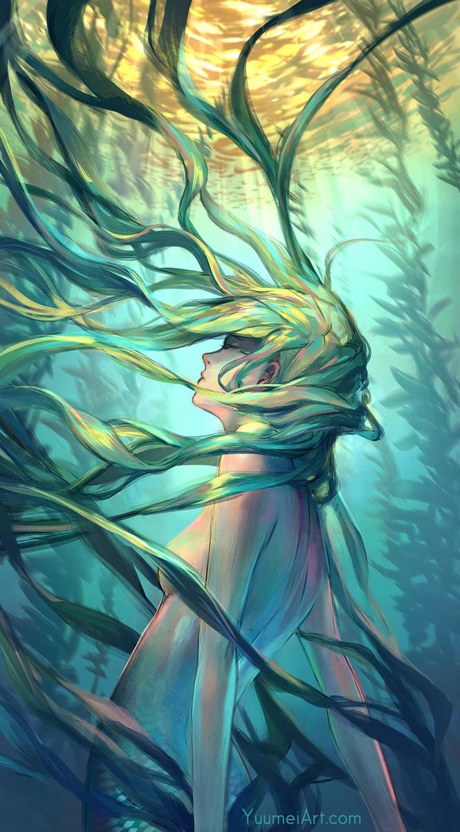 Ocean Forest by yuumei