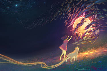 Bring Me the Moon by yuumei